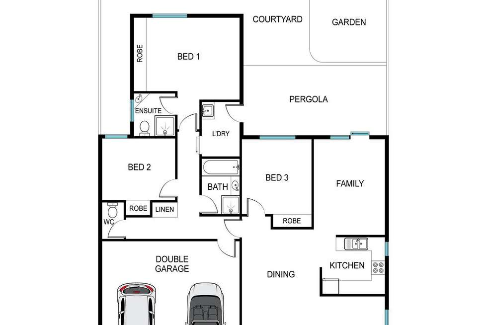 Floorplan of Homely townhouse listing, 6/3 Noble Place, Flynn ACT 2615