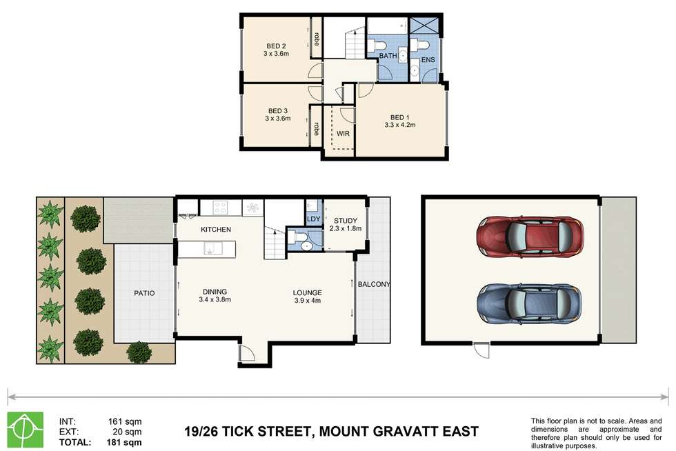 Floorplan of Homely townhouse listing, 19/26 Tick Street, Mount Gravatt East QLD 4122