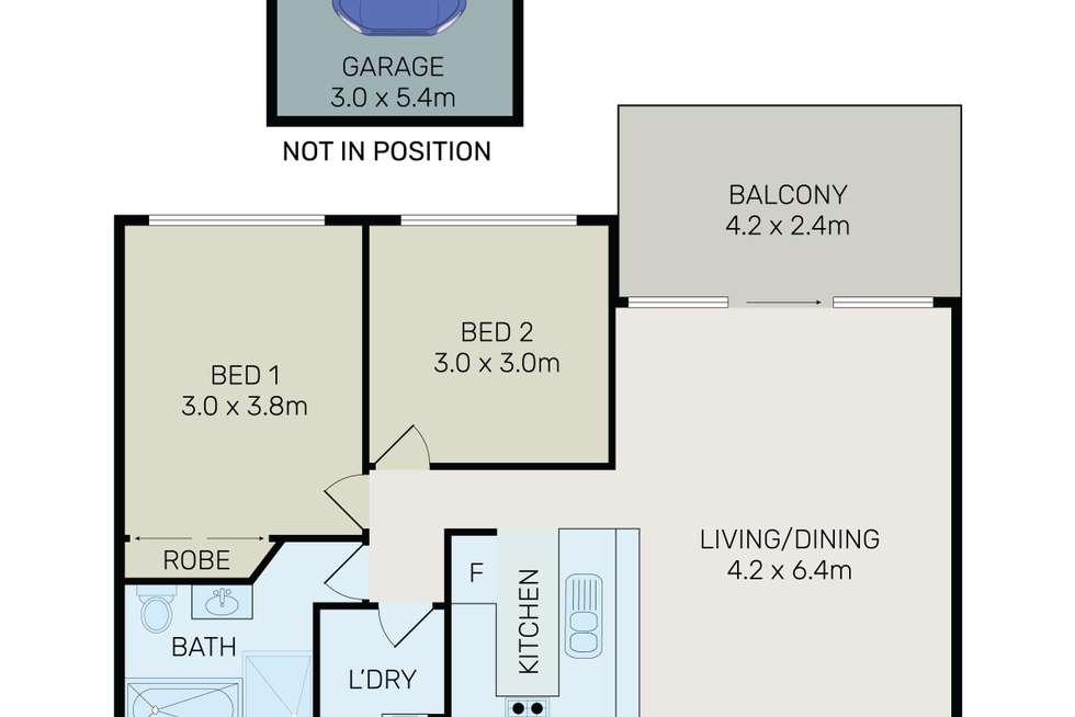 Floorplan of Homely unit listing, 7/14-16 High Street, Granville NSW 2142