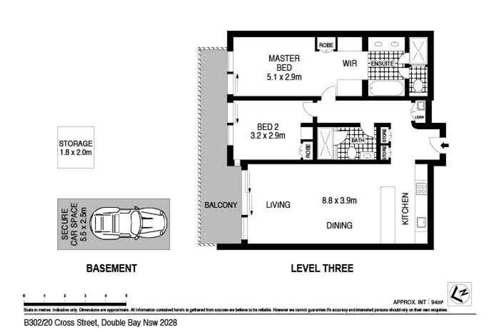 Floorplan of Homely apartment listing, B302/20-26 Cross Street, Double Bay NSW 2028