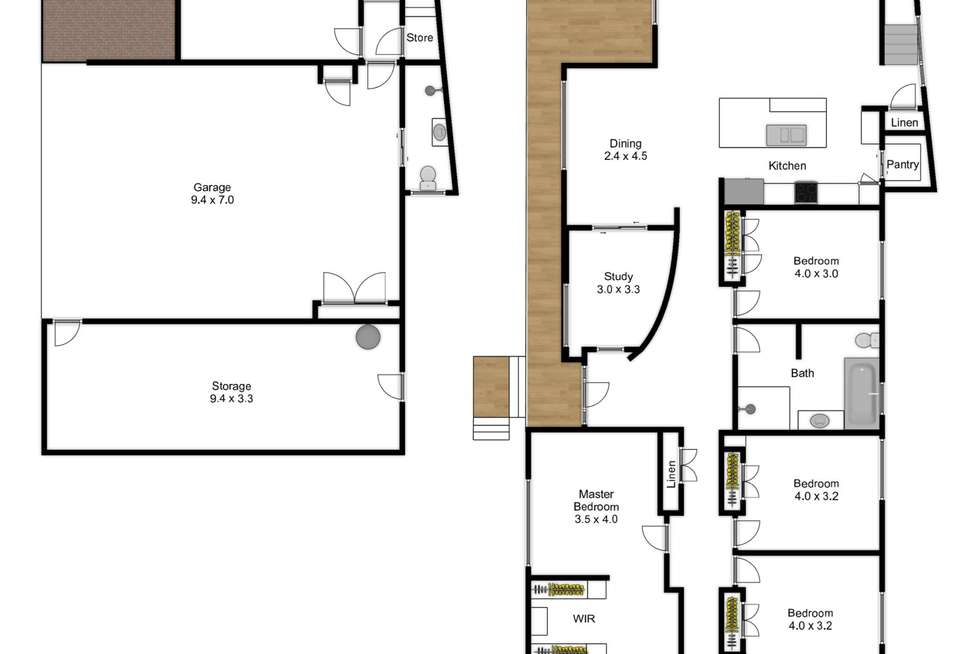 Floorplan of Homely house listing, 101 Hassall Street, Corinda QLD 4075