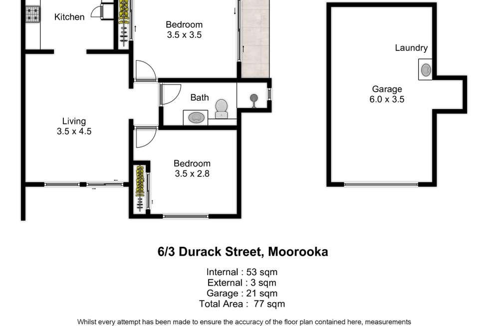 Floorplan of Homely unit listing, 6/3 Durack Street, Moorooka QLD 4105