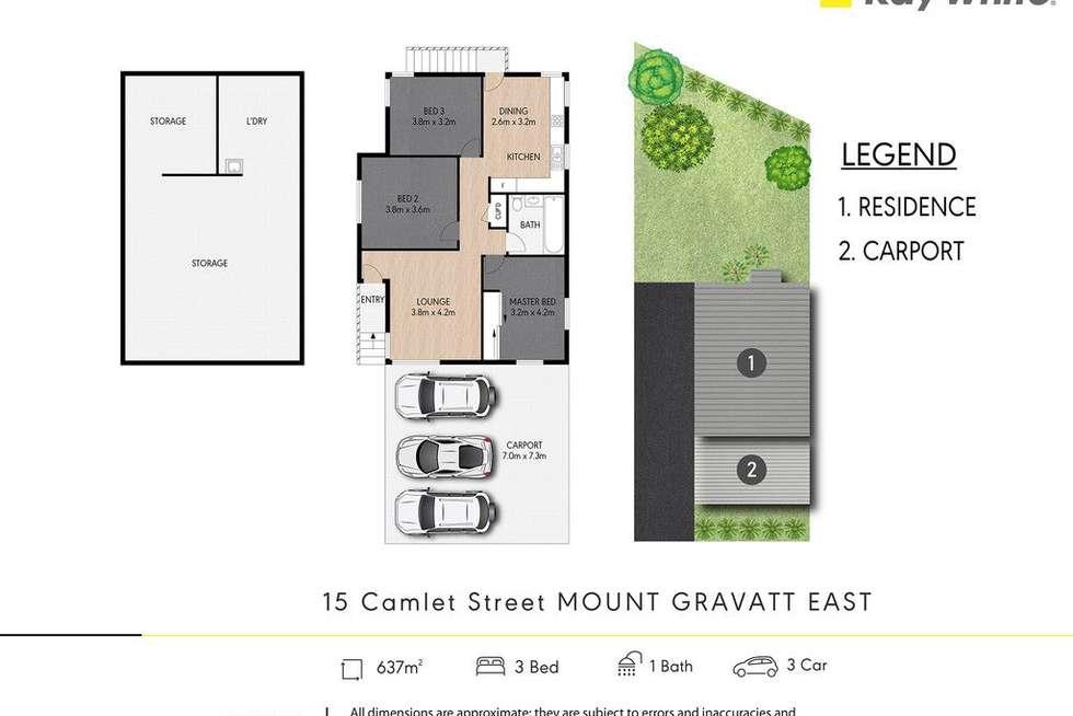 Floorplan of Homely house listing, 15 Camlet Street, Mount Gravatt East QLD 4122