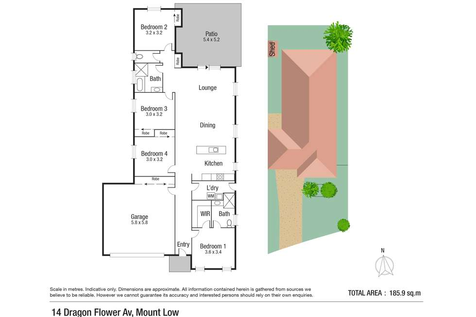 Floorplan of Homely house listing, 14 Dragon Flower Avenue, Mount Low QLD 4818