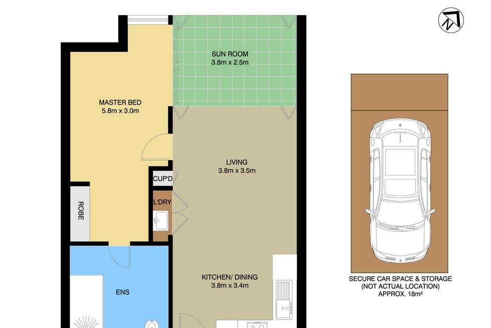 Floorplan of Homely apartment listing, 101/62 Mobbs Lane, Eastwood NSW 2122
