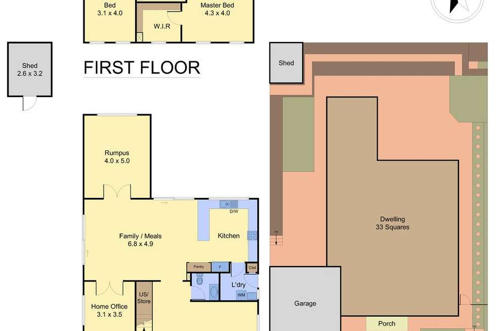 Floorplan of Homely house listing, 15 Somerset Court, Rowville VIC 3178