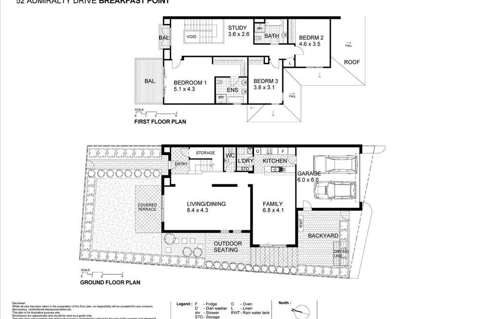 Floorplan of Homely house listing, 52 Admiralty Drive, Breakfast Point NSW 2137