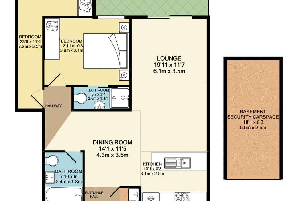 Floorplan of Homely unit listing, 32/23-27 Paton Street, Merrylands NSW 2160