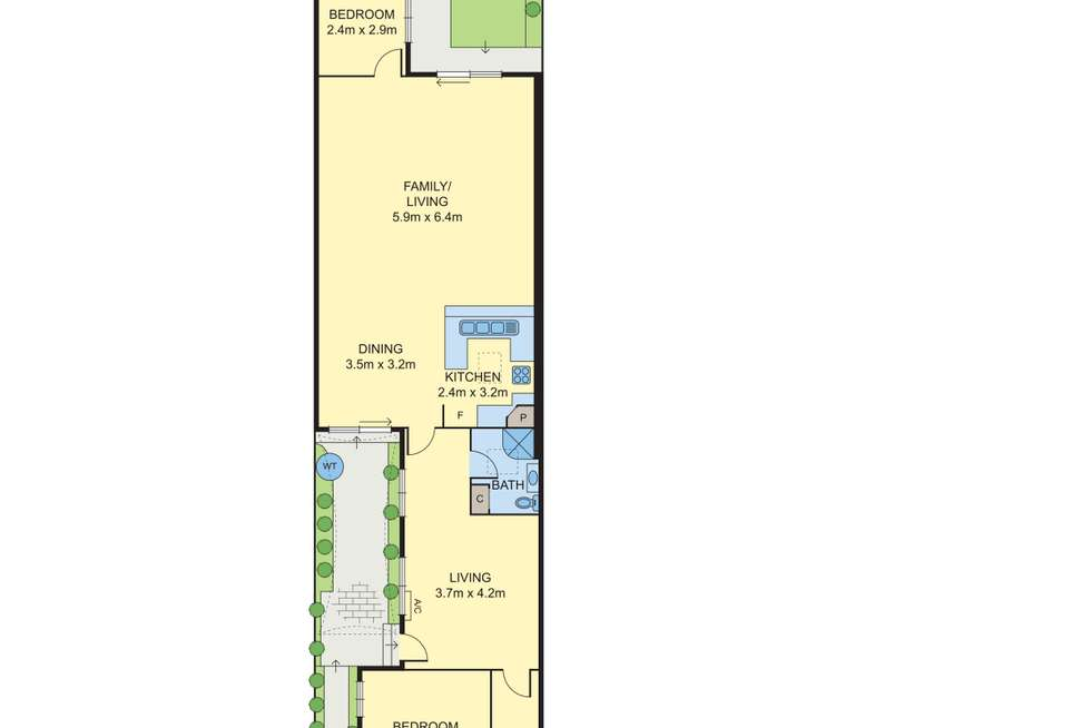 Floorplan of Homely house listing, 206 Barkly Street, Brunswick VIC 3056