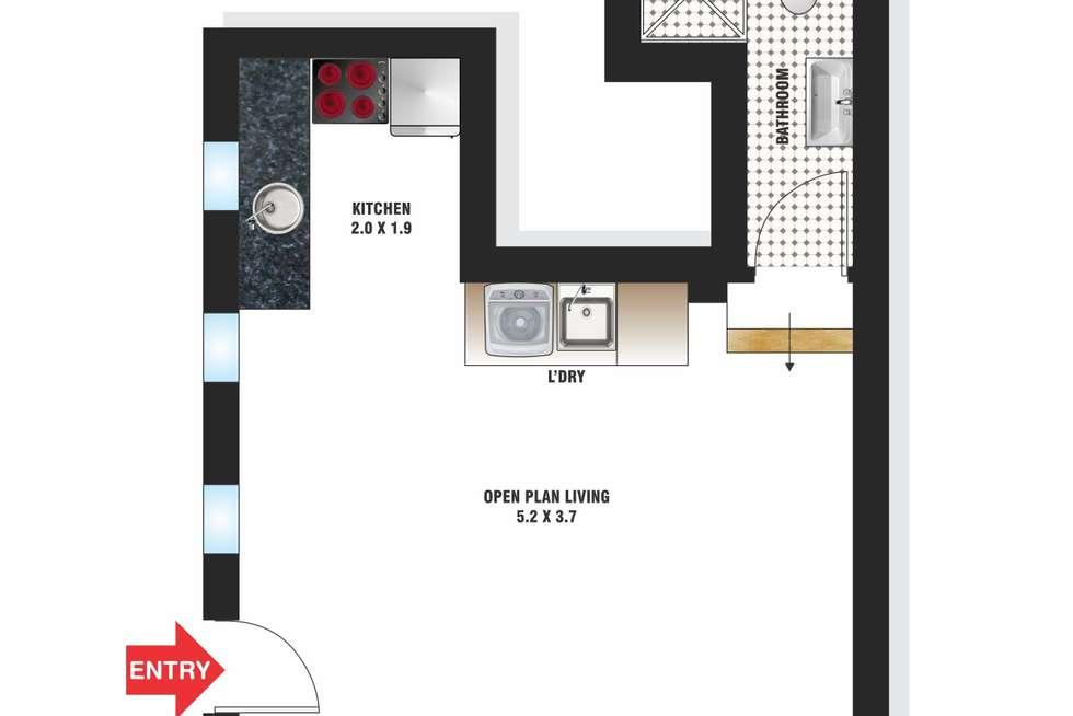 Floorplan of Homely studio listing, 103/9 Greenknowe Avenue, Elizabeth Bay NSW 2011
