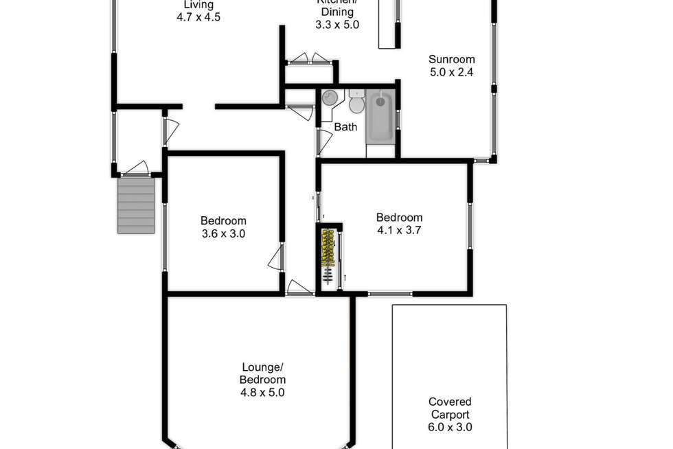 Floorplan of Homely house listing, 12 Blackheath Road, Oxley QLD 4075