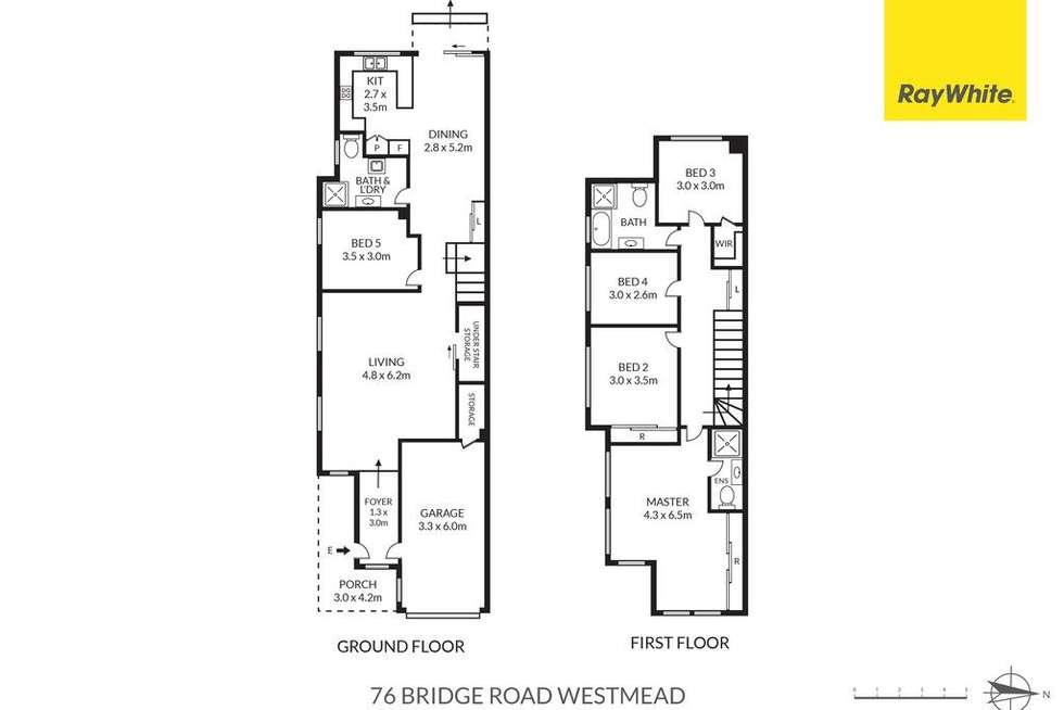 Floorplan of Homely semiDetached listing, 76 Bridge Road, Westmead NSW 2145