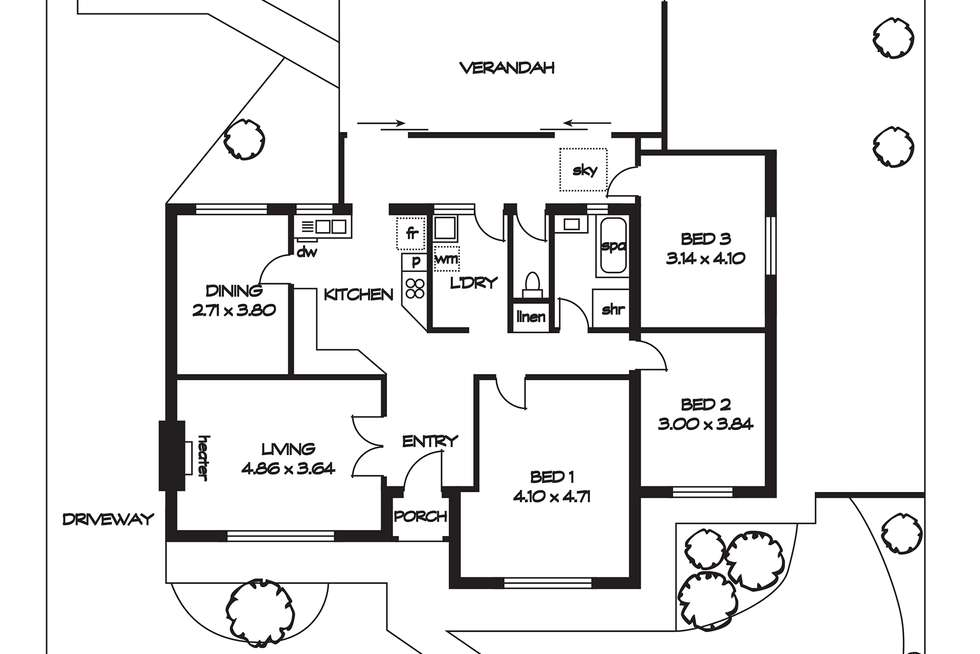 Floorplan of Homely house listing, 44 Marion Road, Brooklyn Park SA 5032