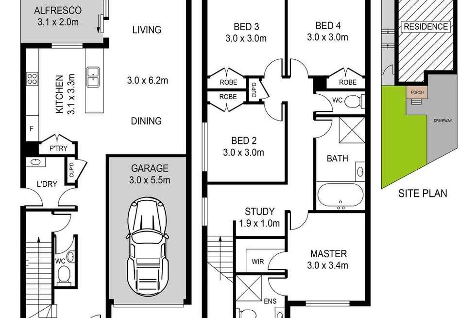 Floorplan of Homely house listing, 18 Major Tomkins Parade, Werrington NSW 2747