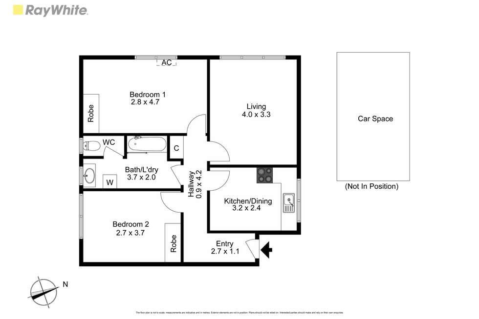 Floorplan of Homely unit listing, 7/105 Willesden Road, Hughesdale VIC 3166