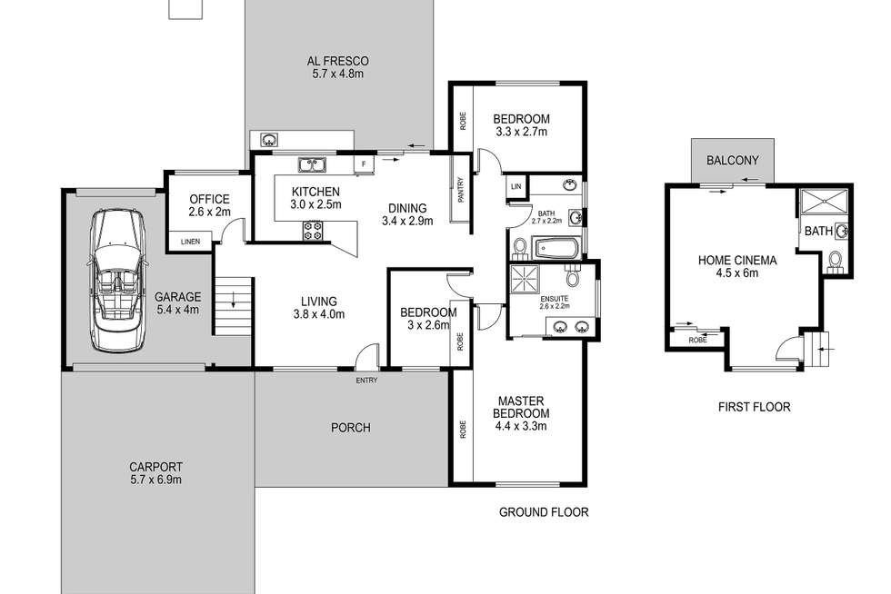 Floorplan of Homely house listing, 19 Bonzer Place, Glendenning NSW 2761