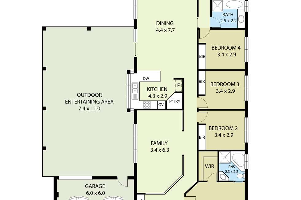 Floorplan of Homely house listing, 21 Southbank Walk, Taylors Hill VIC 3037