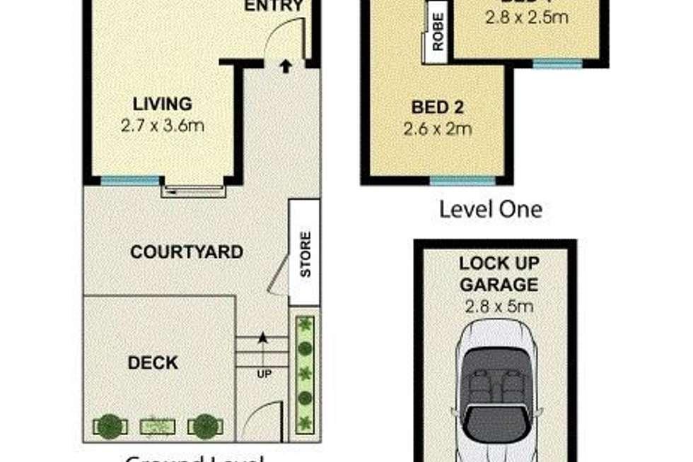 Floorplan of Homely townhouse listing, 7D/7 Botany Street, Bondi Junction NSW 2022