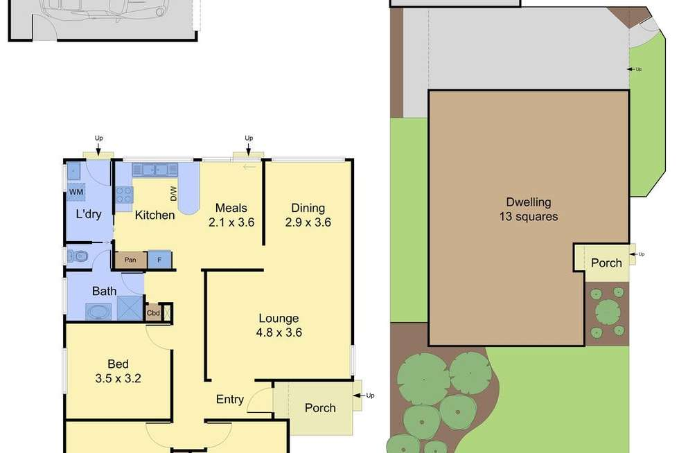 Floorplan of Homely unit listing, 1/5 Seebeck Road, Rowville VIC 3178