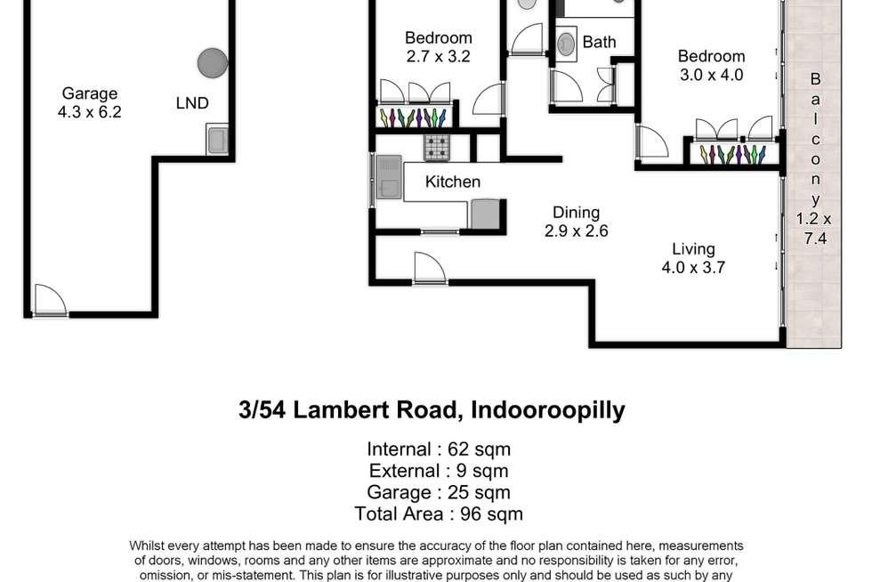 Floorplan of Homely unit listing, 3/54 Lambert Road, Indooroopilly QLD 4068