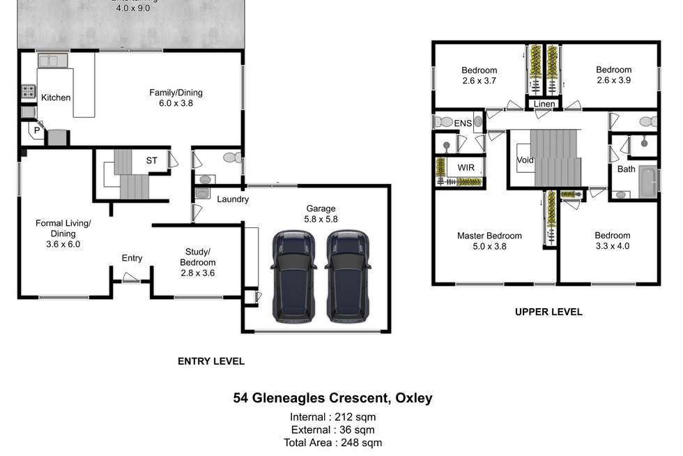 Floorplan of Homely house listing, 54 Gleneagles Crescent, Oxley QLD 4075