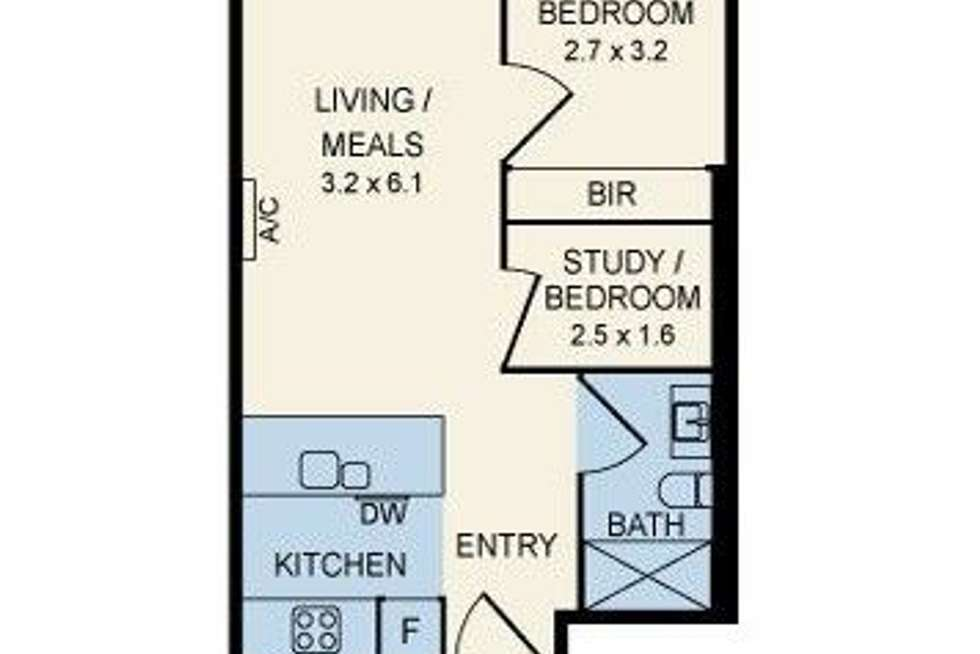Floorplan of Homely apartment listing, 1205/135 City Road, Southbank VIC 3006