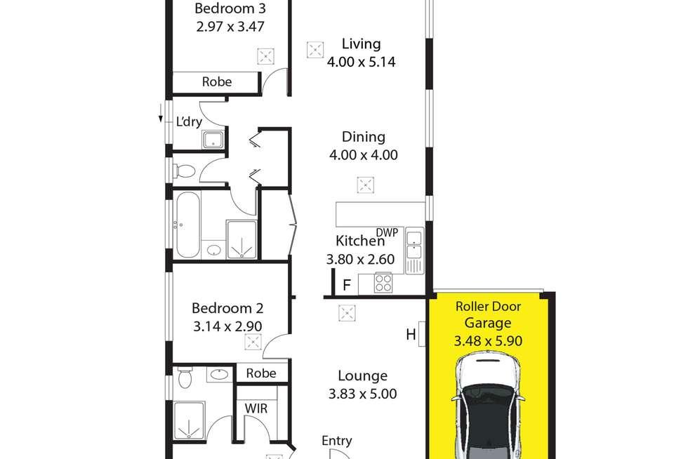 Floorplan of Homely house listing, 8 McPherson Grove, Davoren Park SA 5113