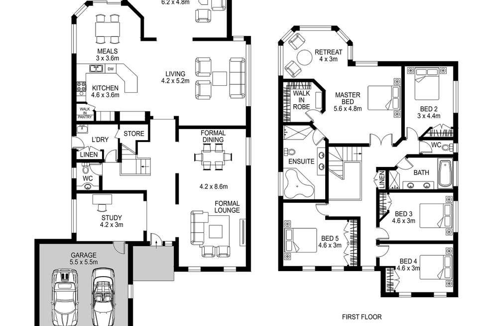 Floorplan of Homely house listing, 7 Lavender Avenue, Kellyville NSW 2155