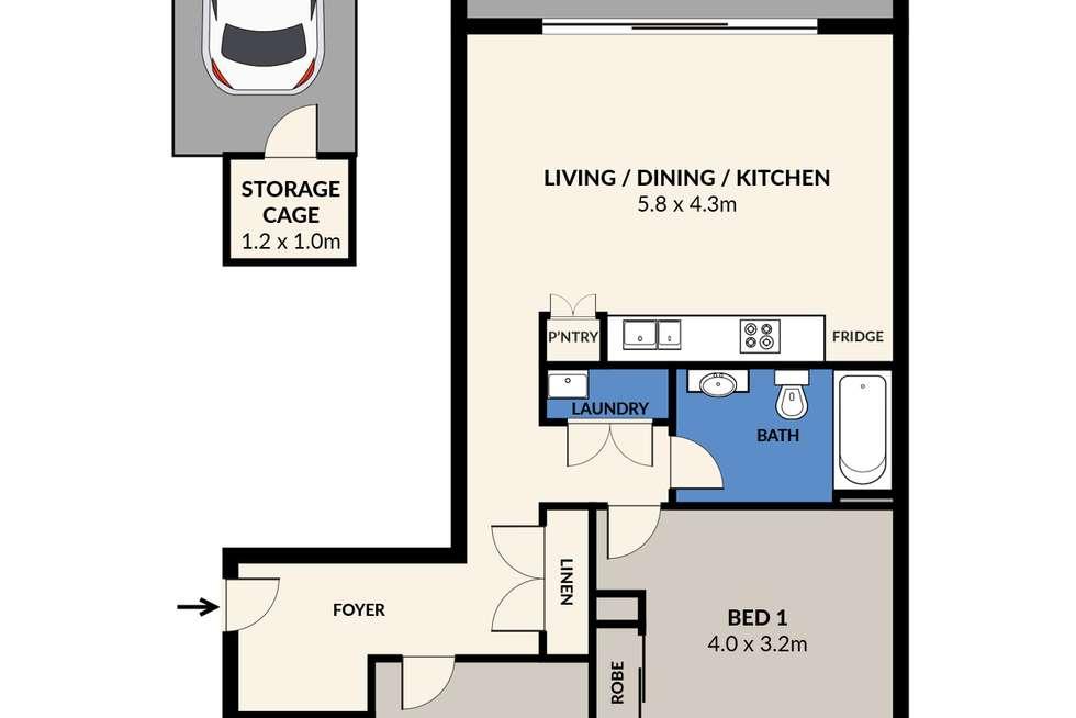 Floorplan of Homely apartment listing, 7075/2D Porter Street, Ryde NSW 2112