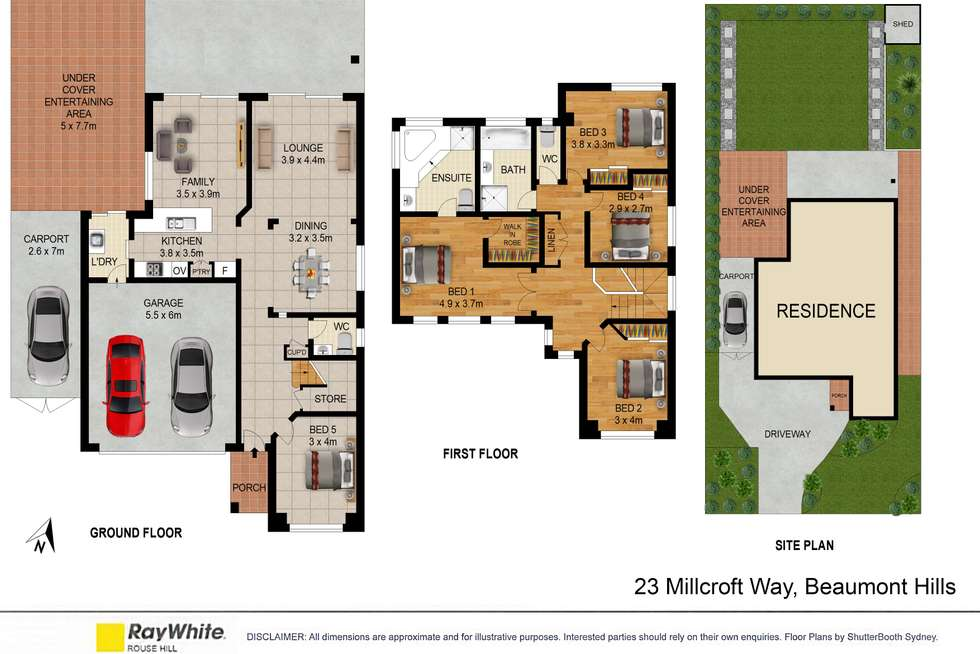 Floorplan of Homely house listing, 23 Millcroft Way, Beaumont Hills NSW 2155