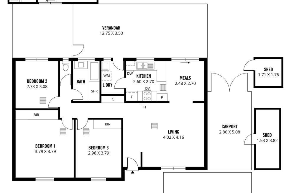 Floorplan of Homely house listing, 14 Carew Street, Reynella East SA 5161