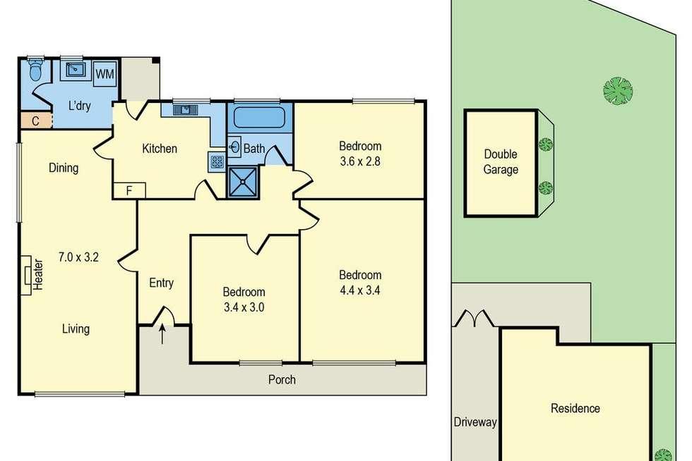 Floorplan of Homely house listing, 6 Lawborough Avenue, Parkdale VIC 3195