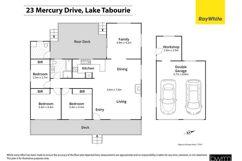 Floorplan of Homely house listing, 23 Mercury Drive, Lake Tabourie NSW 2539