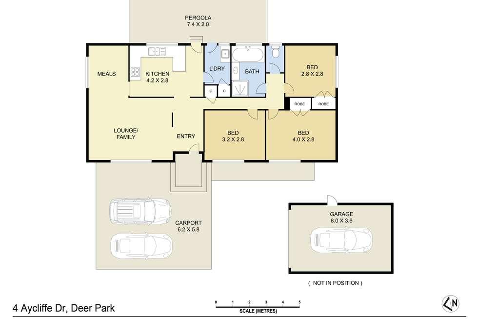 Floorplan of Homely house listing, 4 Aycliffe Drive, Deer Park VIC 3023