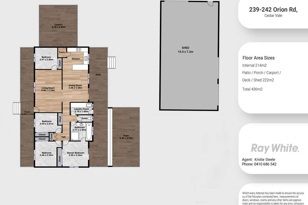 Floorplan of Homely house listing, 239-241 Orion Road, Cedar Vale QLD 4285