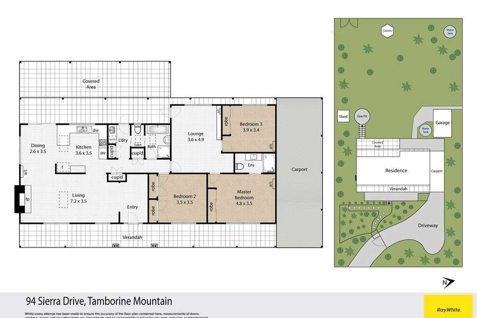 Floorplan of Homely house listing, 94-96 Sierra Drive, Tamborine Mountain QLD 4272