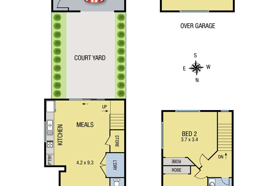 Floorplan of Homely townhouse listing, 1 Birchmore Road, Wollert VIC 3750