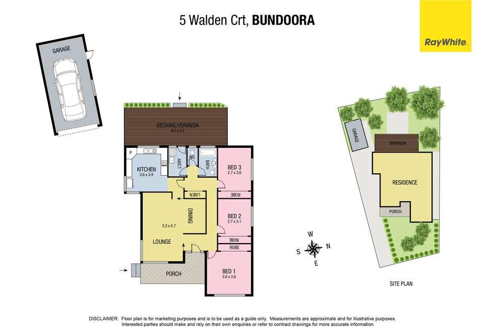Floorplan of Homely house listing, 5 Walden Court, Bundoora VIC 3083