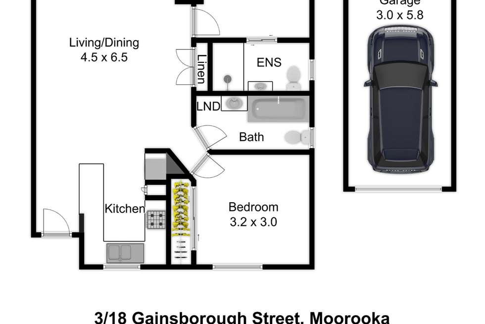 Floorplan of Homely unit listing, 3/18 Gainsborough Street, Moorooka QLD 4105