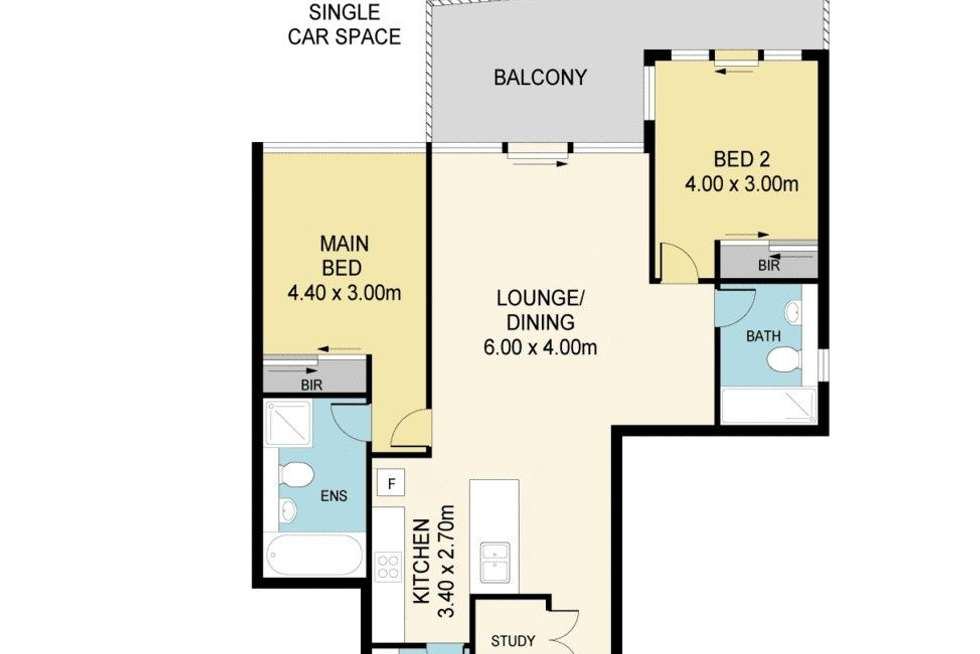 Floorplan of Homely apartment listing, 1408/87 Shoreline Drive, Rhodes NSW 2138
