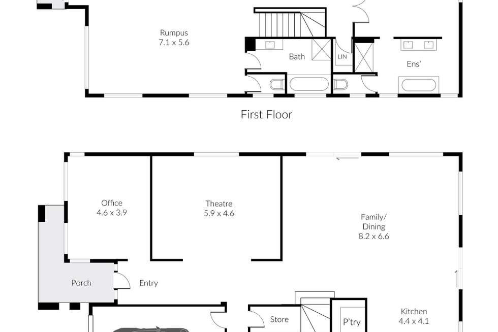 Floorplan of Homely house listing, 59 Westlakes Boulevard, Lara VIC 3212