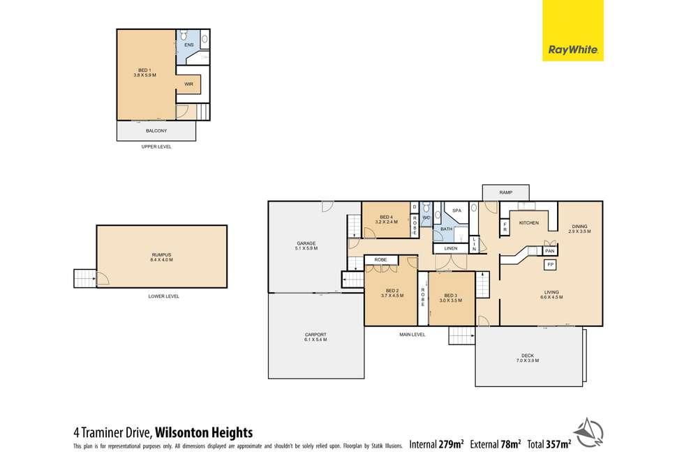 Floorplan of Homely house listing, 4 Traminer Drive, Wilsonton Heights QLD 4350