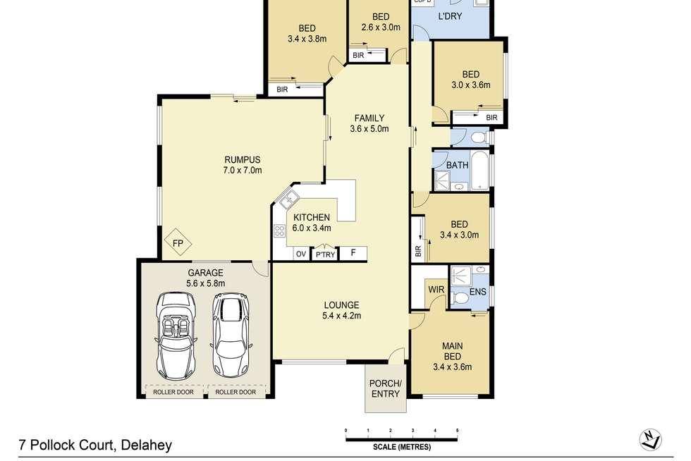 Floorplan of Homely house listing, 7 Pollock Court, Delahey VIC 3037