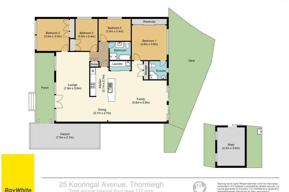 Floorplan of Homely house listing, 25 Kooringal Avenue, Thornleigh NSW 2120