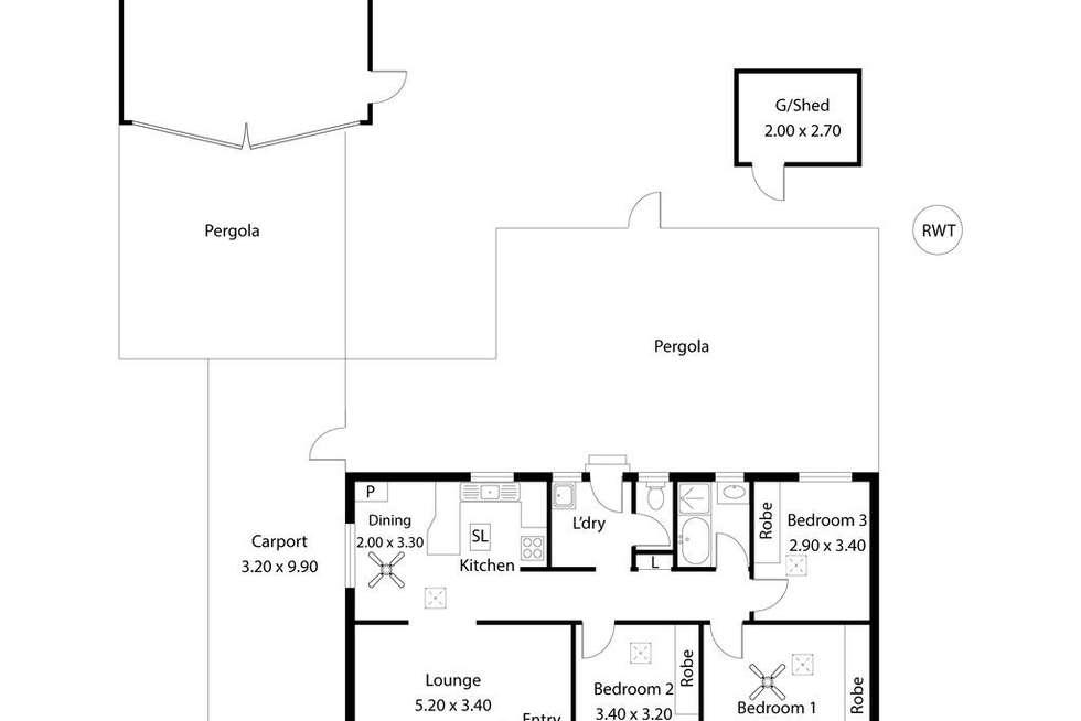 Floorplan of Homely house listing, 20 Mettika Avenue, Ingle Farm SA 5098