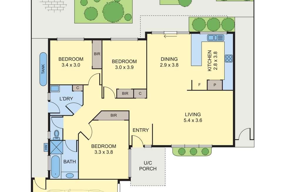 Floorplan of Homely unit listing, 2/137 North Road, Reservoir VIC 3073