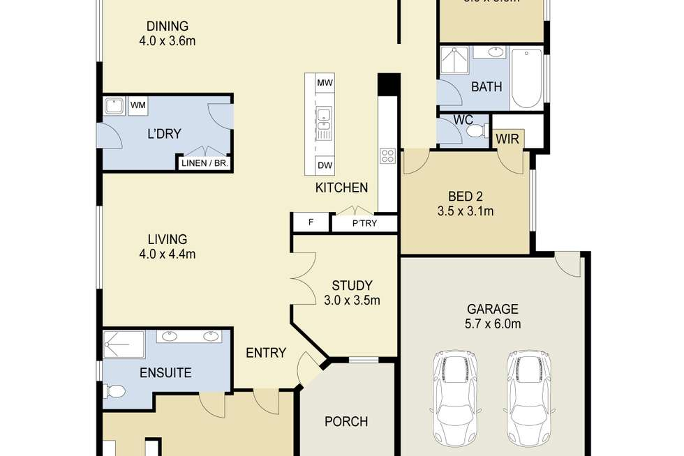 Floorplan of Homely house listing, 5 Nevis Place, Taylors Hill VIC 3037