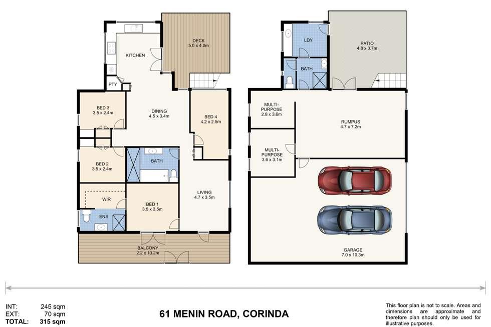 Floorplan of Homely house listing, 61 Menin Road, Corinda QLD 4075