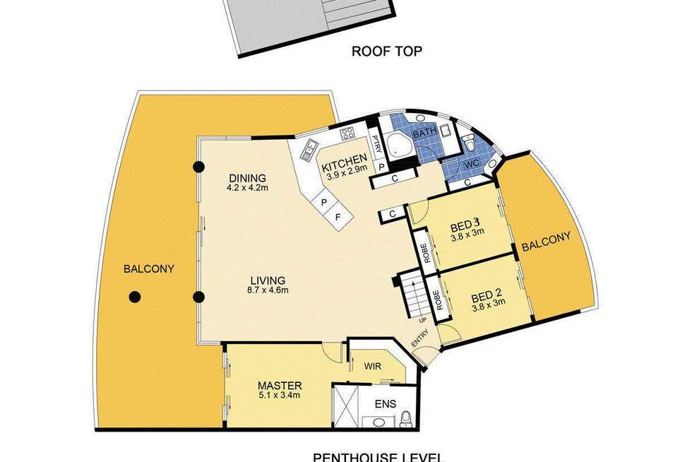 Floorplan of Homely unit listing, Unit 1201/17 Leeding Terrace, Caloundra QLD 4551