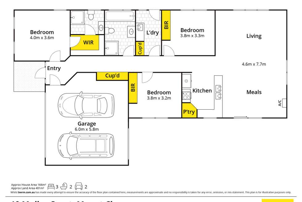 Floorplan of Homely house listing, 10 Muller Court, Mount Clear VIC 3350